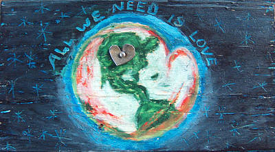 Mixed Media - All We Need Is Love by Racquel Morgan