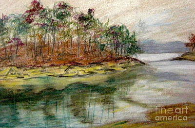 Pastel - Allatoona Reflections by Gretchen Allen