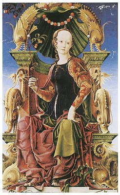 Allegorical Figure Painting - Allegorical Figure by Cosimo Tura