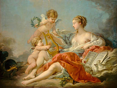 Allegory Of Music Art Print by Francois Bouche