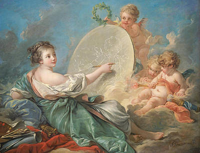 Allegory Of Painting Art Print by Francois Boucher