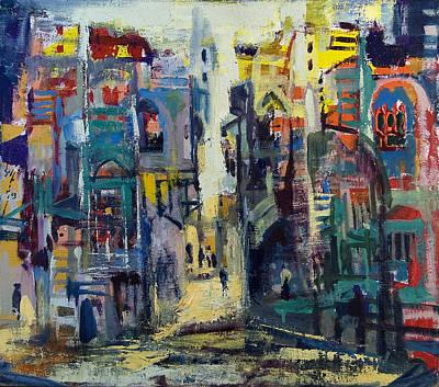 Jewish Painter Painting - Alley In Jerusalem by Naftali Salomon