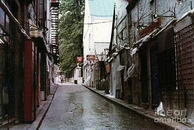 Alley In Old Quebec Art Print by Cedric Hampton