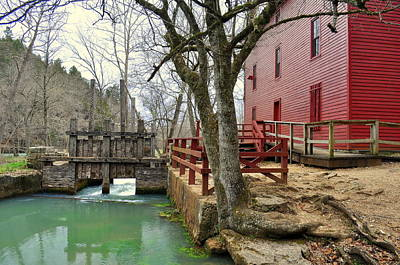 Art Print featuring the photograph Alley Spring Mill 34 by Marty Koch