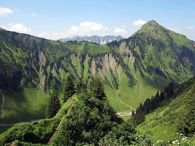Y120831 Photograph - Allgäu Alps Near Oberstdorf, Bavaria by Hans-Peter Merten