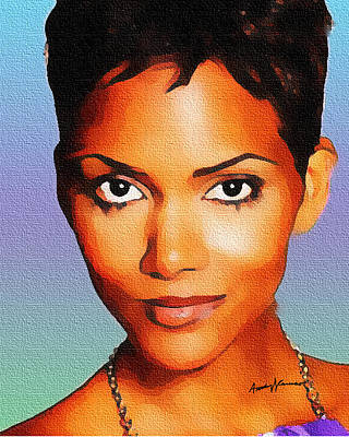 Halle Berry Painting - Allluring by Anthony Caruso