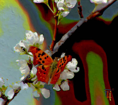Fli Digital Art - Almond Blossom by  Fli Art