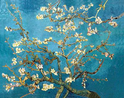 Van Gogh Blossoming Almond Tree Painting - Almond Tree by Sumit Mehndiratta