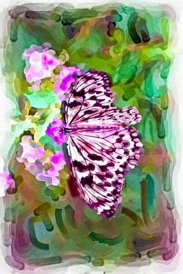 Digital Art - Almost Abstract Butterfly by Ches Black