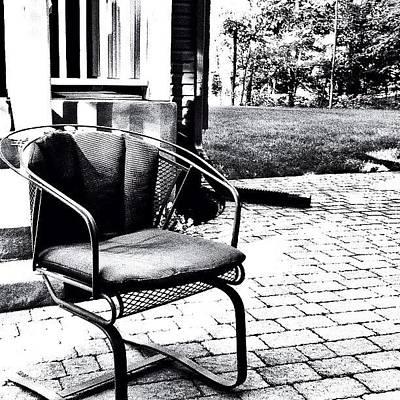 Patio Photograph - Alone Again by Laura Douglas
