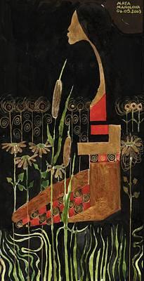 Painting - Alone Beside The Lake by Maya Manolova