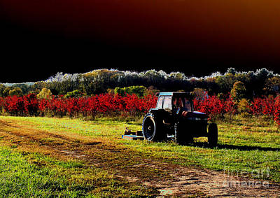 Abandonded Tractor Photograph - Alone by Cindy Roesinger