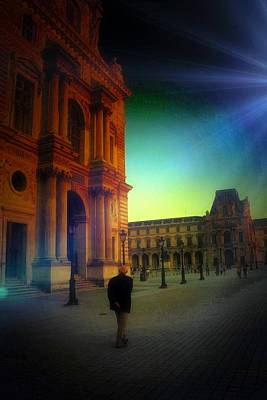 Digital Art - Alone In Paris by Carrie OBrien Sibley