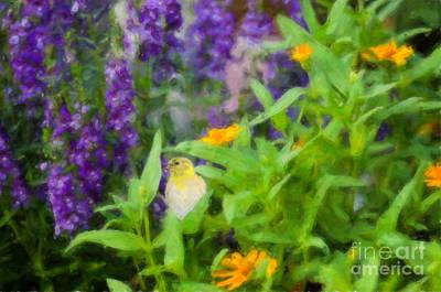 Alone In The Garden Art Print by Betty LaRue