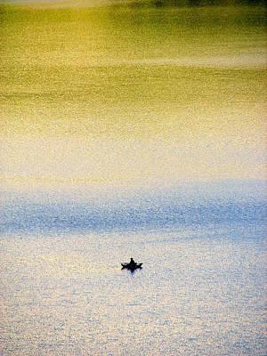 Alone On The Lake Art Print