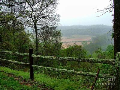 Split Rail Fence Photograph - Along The Natchez Trace by Julie Dant