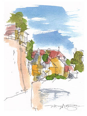 Along The Town Walls Art Print