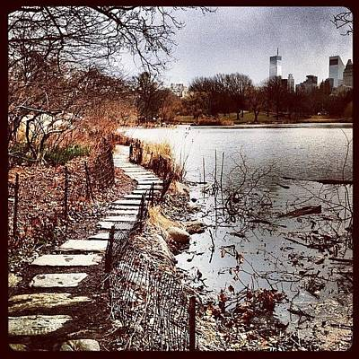 Water Wall Art - Photograph - Along The Water. #centralpark #nyc by Luke Kingma