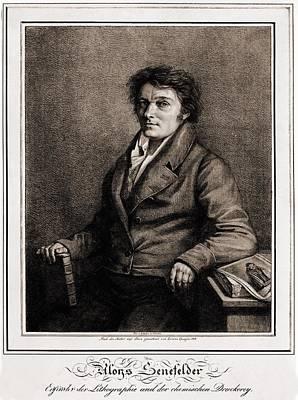 Aloys Senefelder 1771-1834 Art Print by Everett