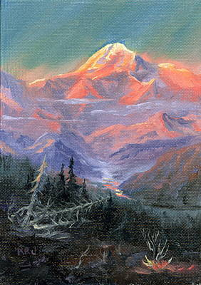 Art Print featuring the painting Alpen Glow by Kurt Jacobson