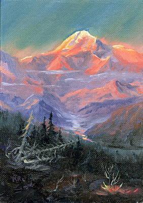 Alpen Glow Art Print