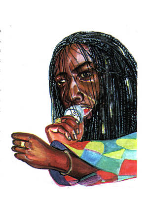 Alpha Blondy Art Print