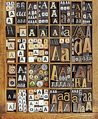 Large Group Of Objects Photograph - Alphabet by Daryl Benson