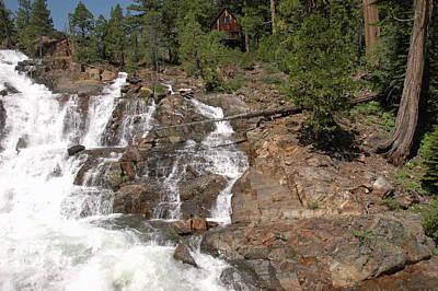 Nevada Photograph - Alpine Creek Falls Lake Tahoe by LeeAnn McLaneGoetz McLaneGoetzStudioLLCcom