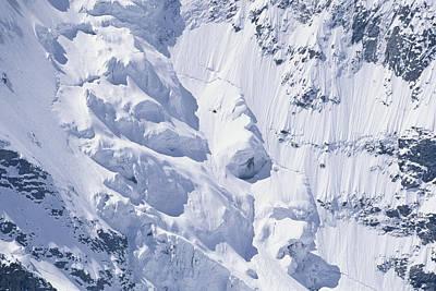 Graubunden Photograph - Alpine Glacier, Switzerland by Franz Aberham