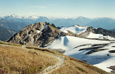 Cascade Mountains Snoqualmie National Forest Photograph - Alpine Mountain  Trail by Marlene Ford