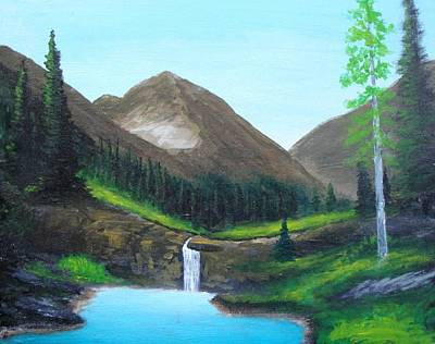 Mountain Painting - Alps  by Larry Cirigliano