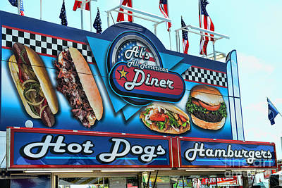 Hot Dogs Photograph - Al's All American Diner by Paul Ward