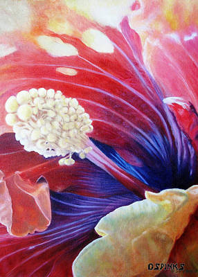 Painting - Al's Hibiscus by Debra Spinks