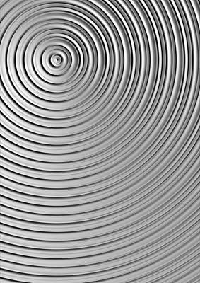 Print featuring the digital art Also Not A Spiral by Jeff Iverson