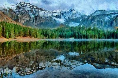 Painting - Alta Lakes Reflection by Jeffrey Kolker