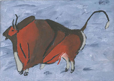 Neolithic Painting - Altamira Bull by David Crowell