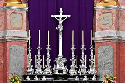 Photograph - Altar Dresdener Hofkirche by Christine Till