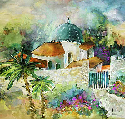 Altea Painting - Altea La Vieja In Spain 01 by Miki De Goodaboom
