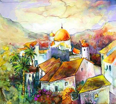 Altea Painting - Altea La Vieja In Spain 02 by Miki De Goodaboom