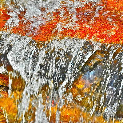 Photograph - Altered Image Of Waterfall Cascade by Kirsten Giving