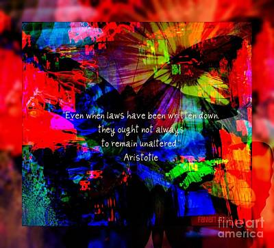 Faniart Africa America Mixed Media - Altered To Change by Fania Simon