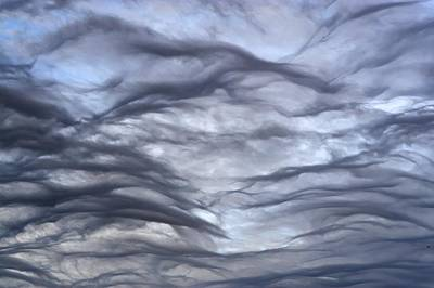 Altocumulus Undulatus Clouds Art Print by Laurent Laveder