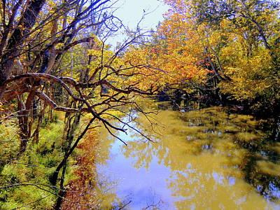 Oak Creek Digital Art - Alum Creek by Mindy Newman