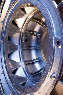 Aircraft Engine Component Photograph - Aluminium Aircraft Component by Mark Williamson
