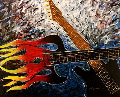 Painting - Always About Music by Kume Bryant