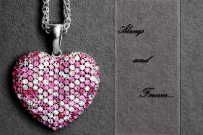 Pink Sapphire Photograph - Always And Forever by Shelley Neff