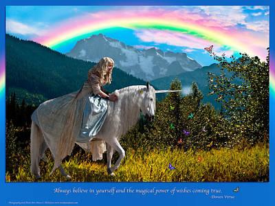 Photograph - Always Believe- A Doreen Virtue Inspirational Print by Diane C Nicholson