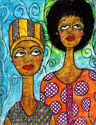 African-american Mixed Media - Always Here For You by Angela L Walker