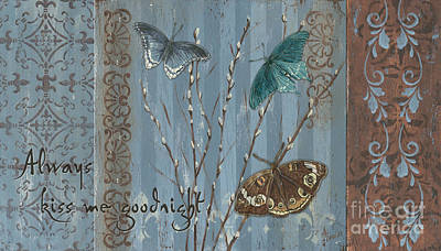 Fleur Painting - Always Kiss Me Goodnight by Debbie DeWitt