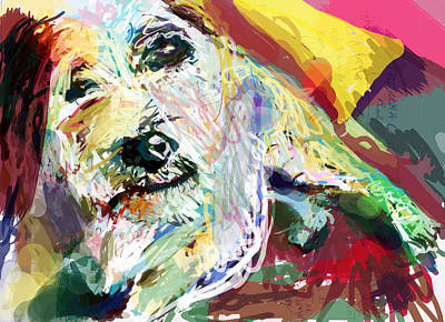 Puppies Digital Art - Always Supportive by James Thomas